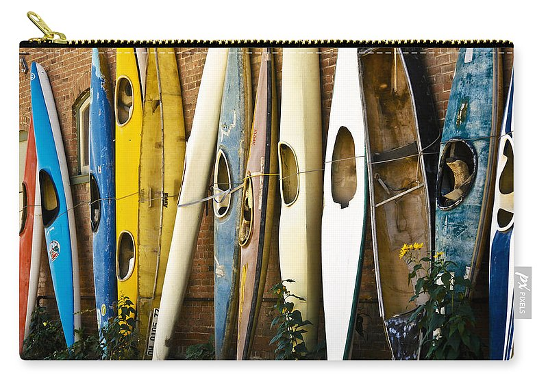 Kayak Carry-all Pouch featuring the photograph Kayaks by Marilyn Hunt