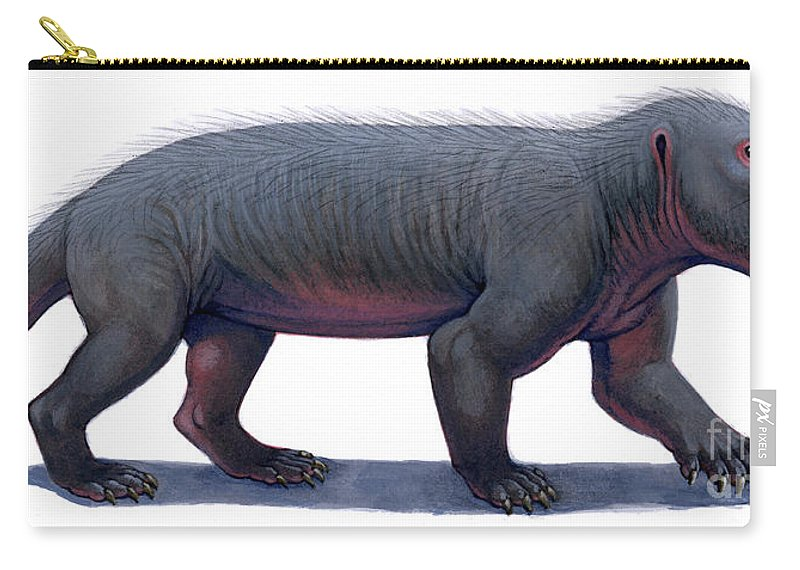 Illustration Technique Carry-all Pouch featuring the photograph Kayentatherium, A Mammal-like by H. Kyoht Luterman