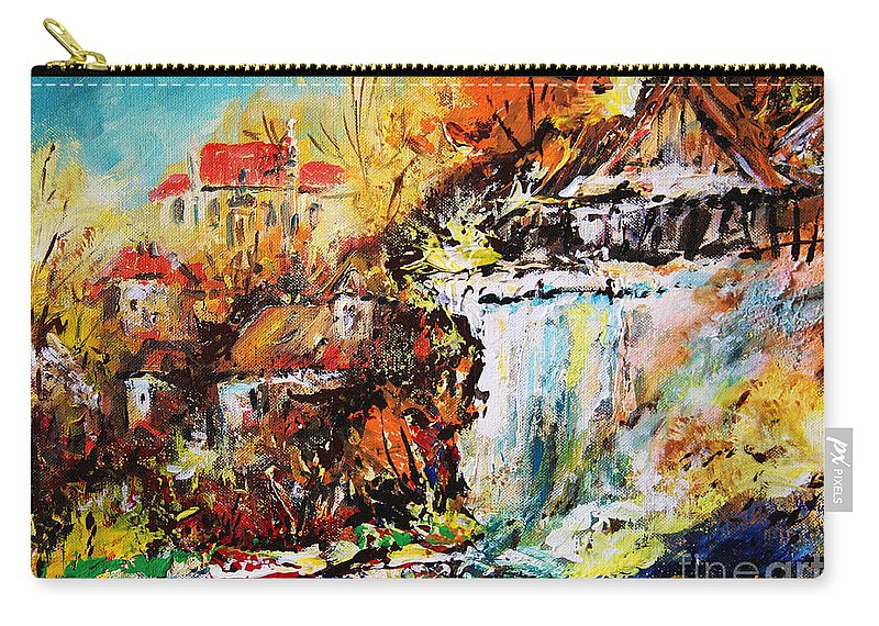 Kazimierz Nad Wisla Carry-all Pouch featuring the painting Kazimierz Nad Wisla by Dariusz Orszulik
