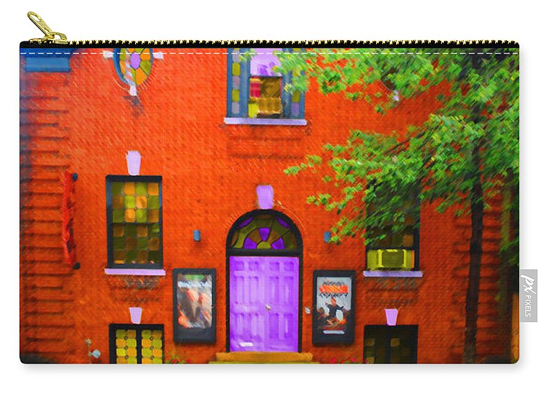 Keegan Carry-all Pouch featuring the photograph Keegan Theatre by Jost Houk