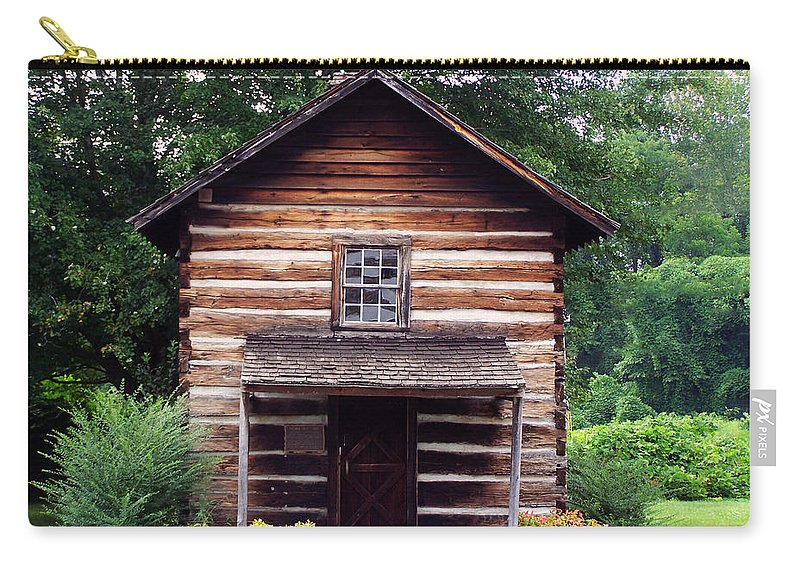 Landscape Carry-all Pouch featuring the digital art Keener Craft Cabin by Chris Flees