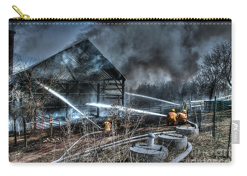 Fire Carry-all Pouch featuring the photograph Keep Fire In Your Life No 9 by Tommy Anderson