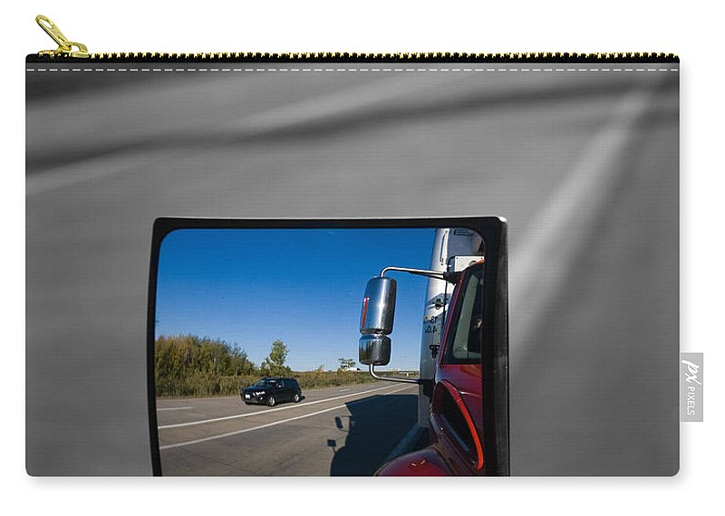 Transport Carry-all Pouch featuring the photograph Keep On Truckin by Patrice Charette