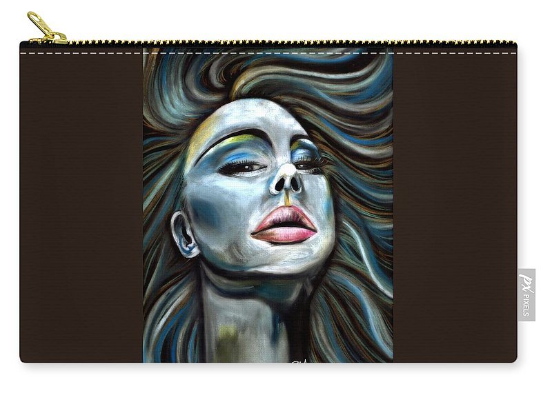 Beautiful Carry-all Pouch featuring the photograph Keep ya Head Up by Artist RiA