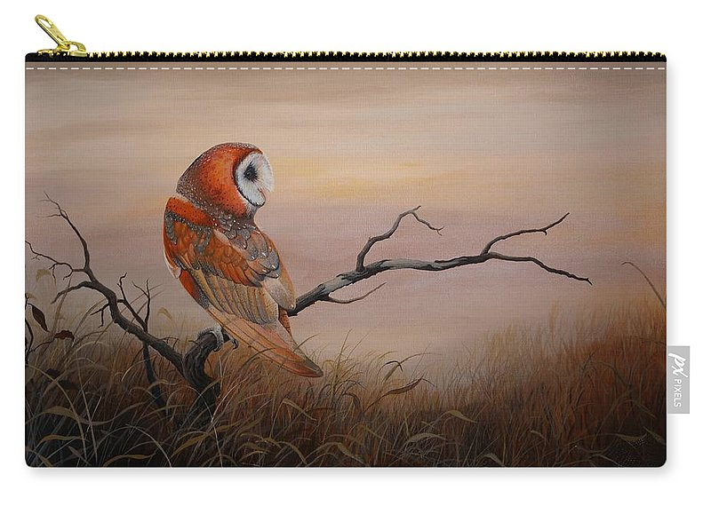 Barn Owl Carry-all Pouch featuring the painting Keeper Of Dreams by Charles Owens