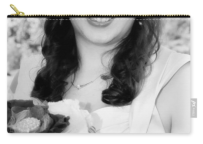 Bride Carry-all Pouch featuring the photograph Keira In Black And White by Kathleen K Parker