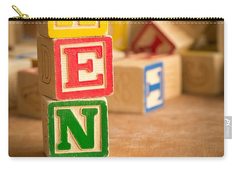 Abs Carry-all Pouch featuring the photograph Ken - Alphabet Blocks by Edward Fielding