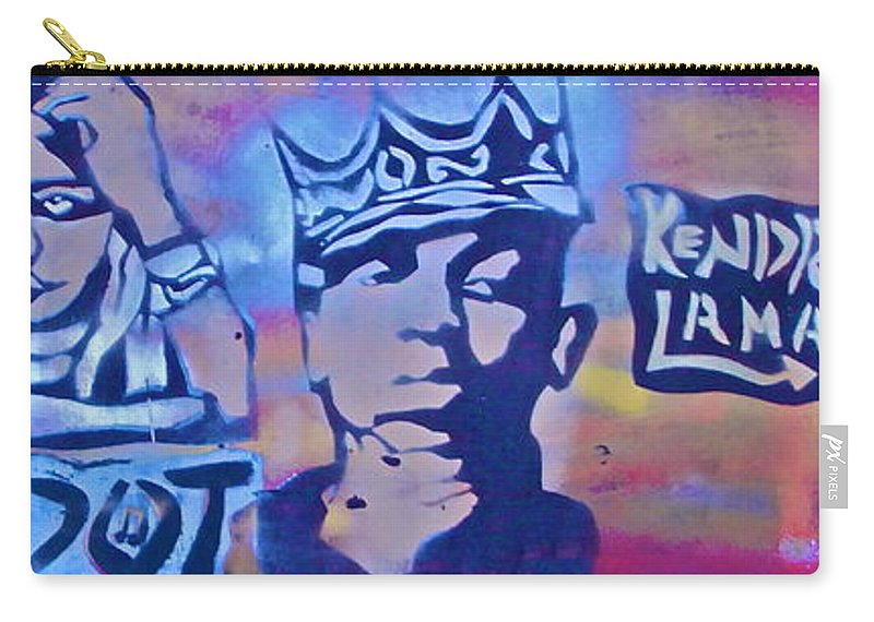 Hip Hop Carry-all Pouch featuring the painting Kendrick K Dot Lamar by Tony B Conscious