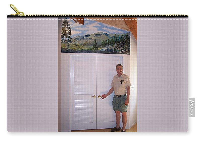 Mural Carry-all Pouch featuring the painting Kennedy Meadows Mural by Frank Wilson