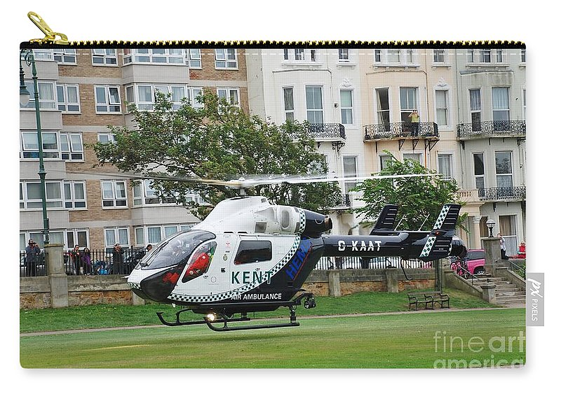 Kent Carry-all Pouch featuring the photograph Kent Air Ambulance by David Fowler