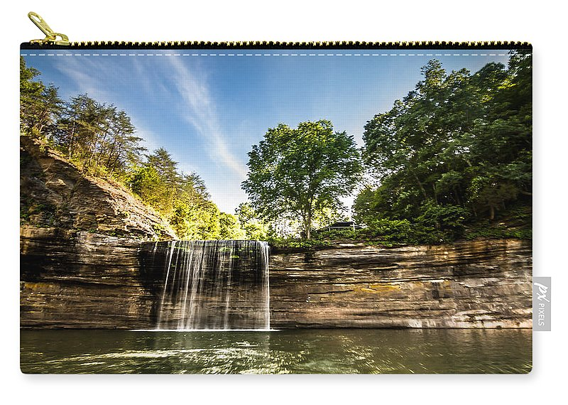 76 Falls Carry-all Pouch featuring the photograph Kentucky - 76 Falls by Ron Pate