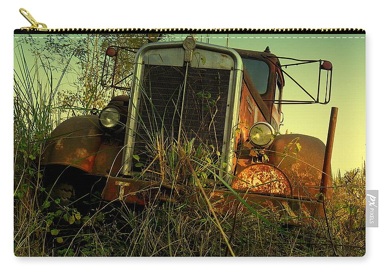 Wallpaper Buy Art Print Phone Case T-shirt Beautiful Duvet Case Pillow Tote Bags Shower Curtain Greeting Cards Mobile Phone Apple Android Nature Old American Carry-all Pouch featuring the photograph Kenworth 2 by Salman Ravish