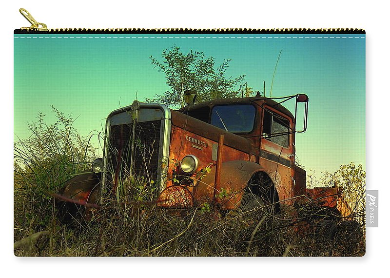 Wallpaper Buy Art Print Phone Case T-shirt Beautiful Duvet Case Pillow Tote Bags Shower Curtain Greeting Cards Mobile Phone Apple Android Nature Old American Carry-all Pouch featuring the photograph Kenworth 3 by Salman Ravish