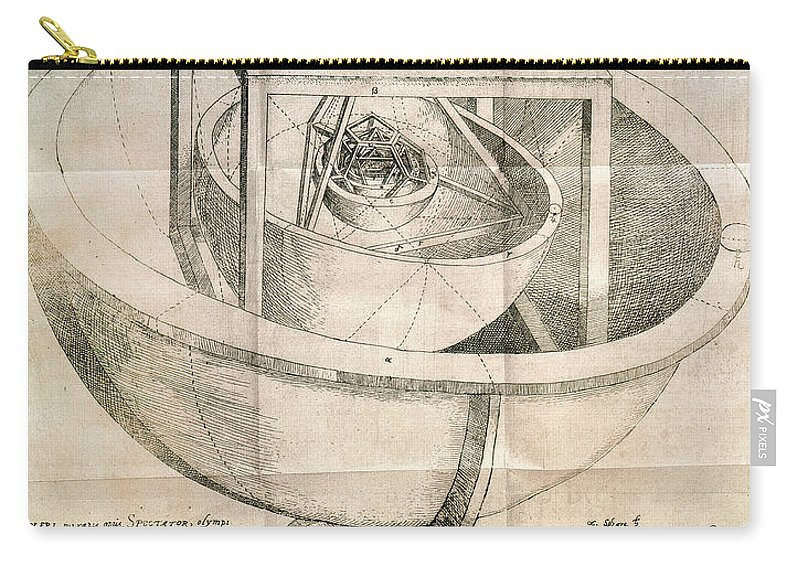 1596 Carry-all Pouch featuring the photograph Keplers Universe, 1596 by Granger