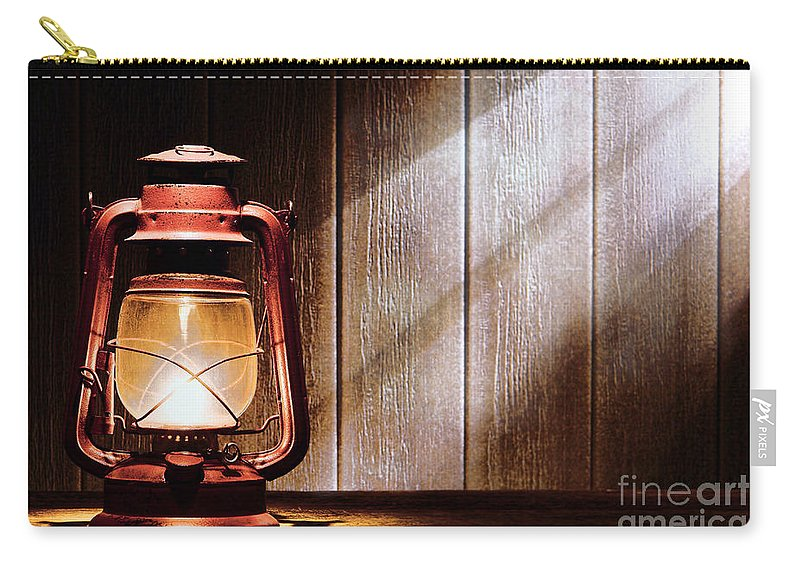 Kerosene Carry-all Pouch featuring the photograph Kerosene Lantern by Olivier Le Queinec