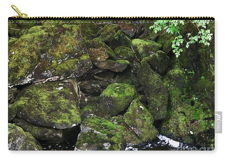 Ketchikan Riverbank Carry-all Pouch featuring the photograph Ketchikan Riverbank by Bev Conover
