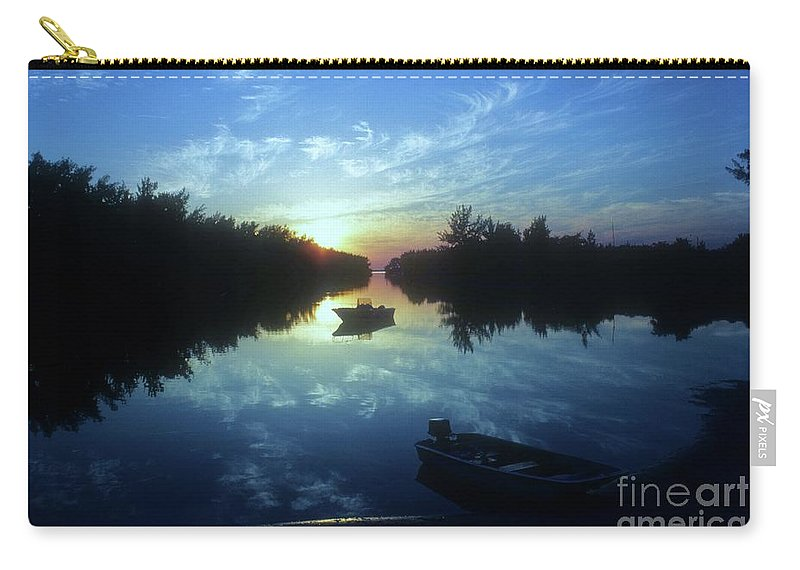 Key Biscayne Sunset Carry-all Pouch featuring the photograph Key Biscayne Sunset 2 by Allen Beatty