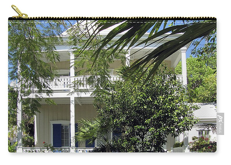 Architecture Carry-all Pouch featuring the photograph Key West House by Bob Slitzan