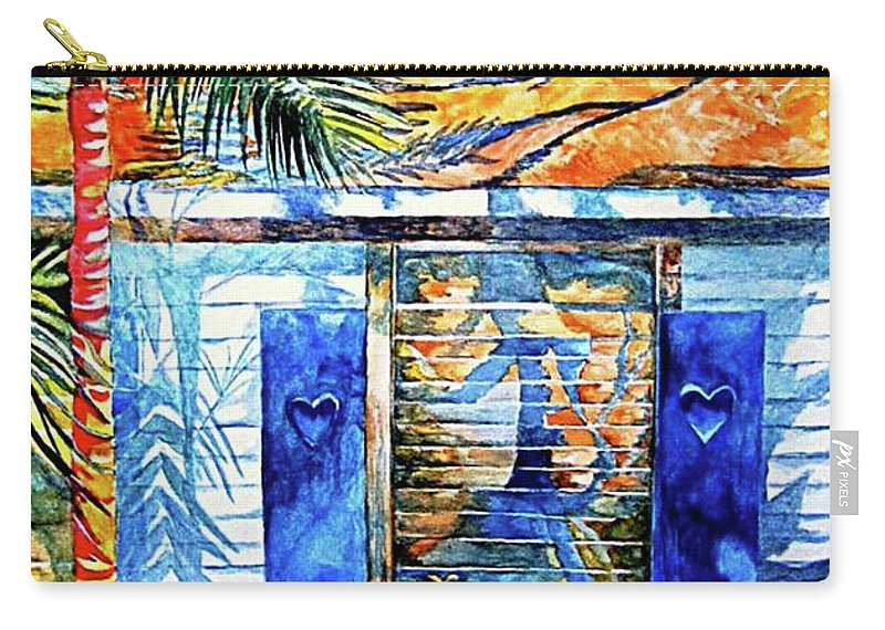 Key West Carry-all Pouch featuring the painting Key West Still Life by Kandy Cross