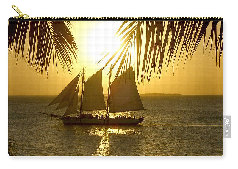 Key West Carry-all Pouch featuring the photograph Key West Sunset by Joan Minchak