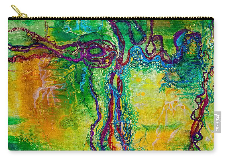 Keystone Carry-all Pouch featuring the painting Keystone by Regina Valluzzi