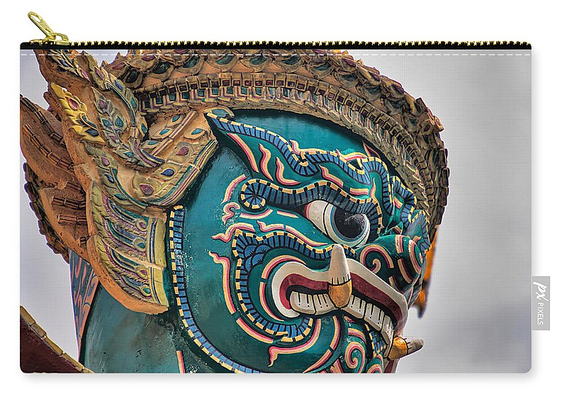 3scape Carry-all Pouch featuring the photograph Khmer Guard by Adam Romanowicz