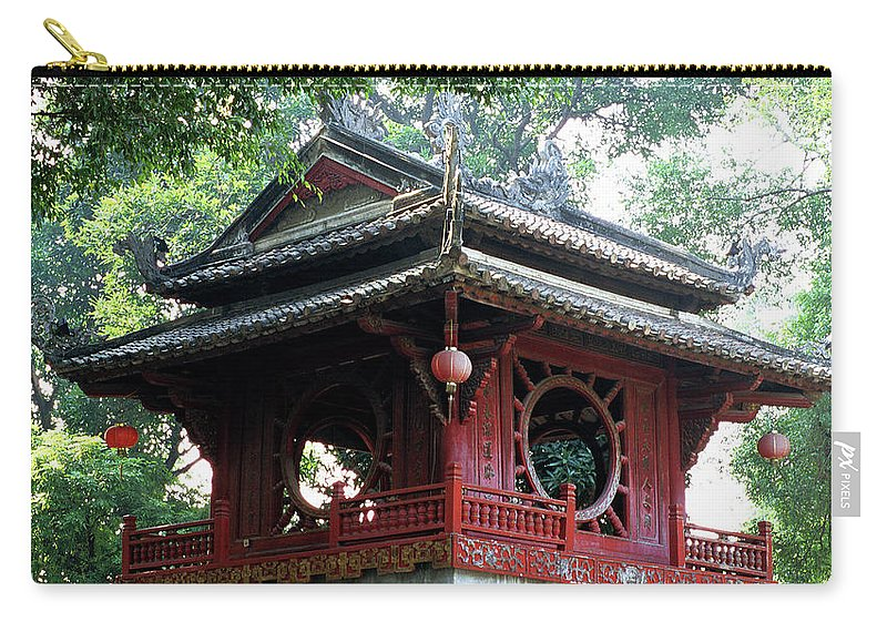 Vietnam Carry-all Pouch featuring the photograph Khue Van Cac Gate by Rick Piper Photography