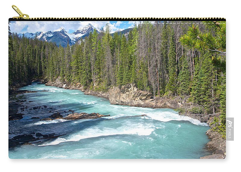 Kicking Horse River In Yoho Np Carry-all Pouch featuring the photograph Kicking Horse River In Yoho Np-bc by Ruth Hager