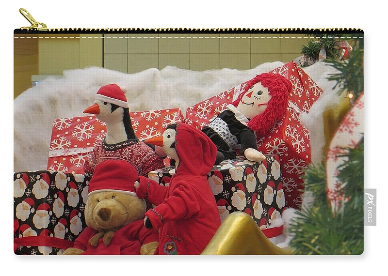 Winter Friends Carry-all Pouch featuring the photograph Kids Celebrations by Sonali Gangane