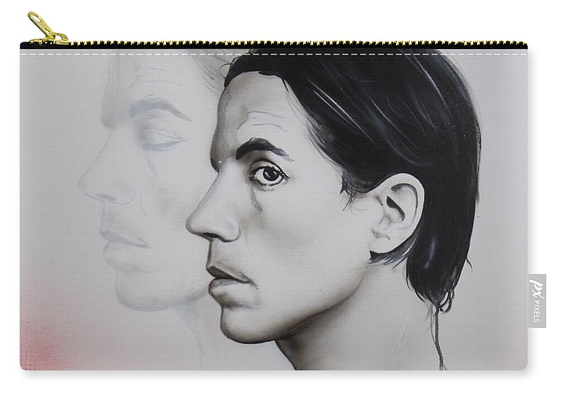 Carry-all Pouch featuring the painting Kiedis Apache Soul by Christian Chapman Art