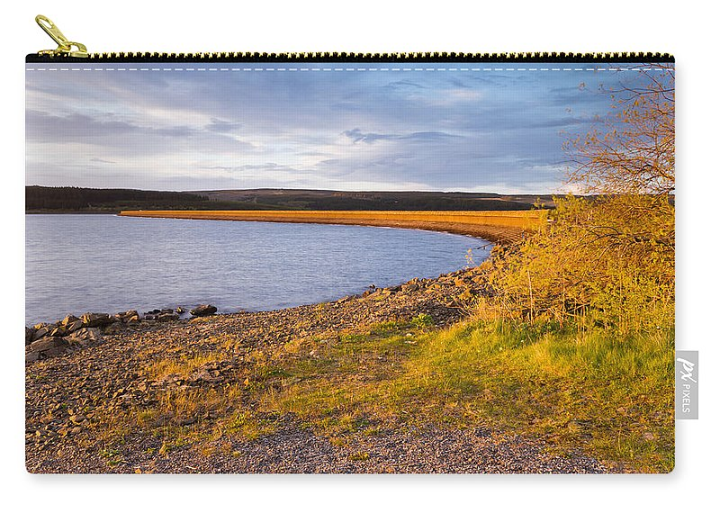 Northumberland Carry-all Pouch featuring the photograph Kielder Dam In Late Evening by David Head