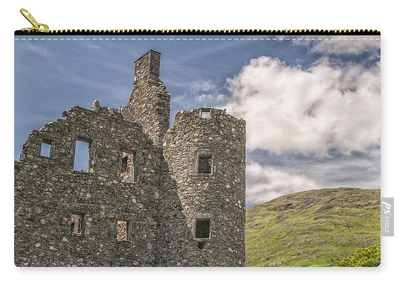 Scotland Carry-all Pouch featuring the photograph Kilchurn Castle 03 by Antony McAulay