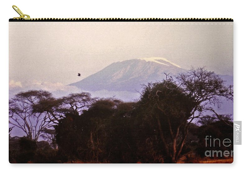 Kilimanjaro Carry-all Pouch featuring the photograph Kilimanjaro In The Morning by Lydia Holly