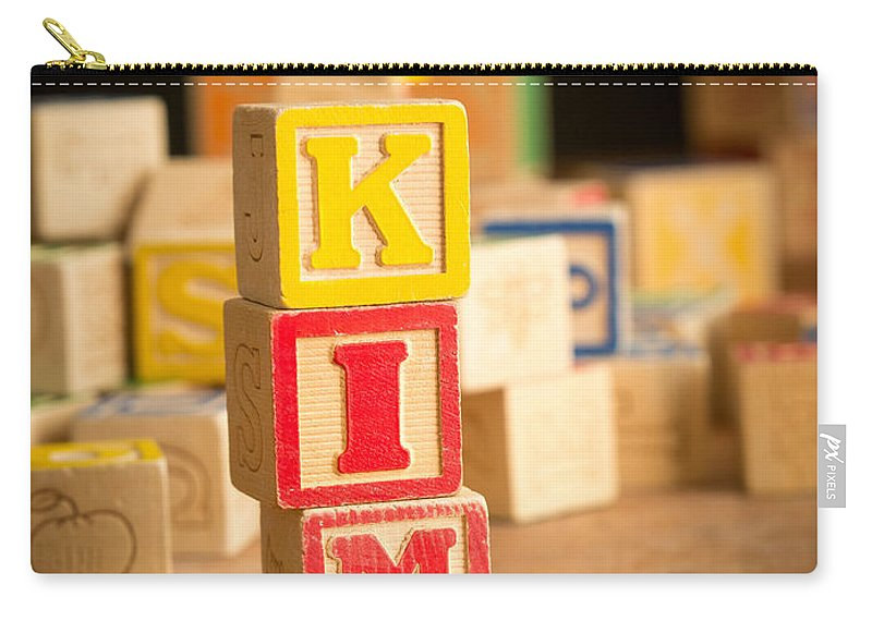 Abs Carry-all Pouch featuring the photograph Kim - Alphabet Blocks by Edward Fielding