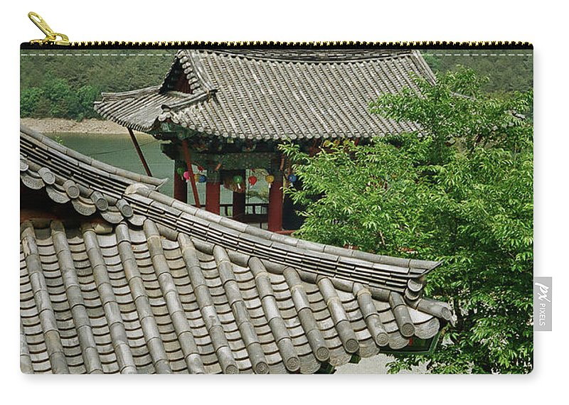 Tranquility Carry-all Pouch featuring the photograph Kimchi Pots, Tiles And Lanterns by Mimyofoto - Serge Lebrun