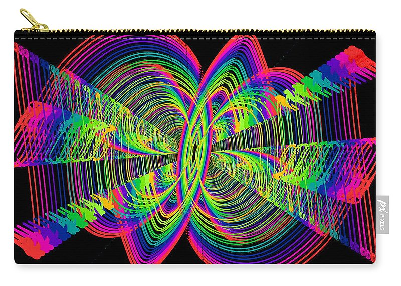 Abstract Carry-all Pouch featuring the digital art Kinetic Rainbow 55 by Tim Allen