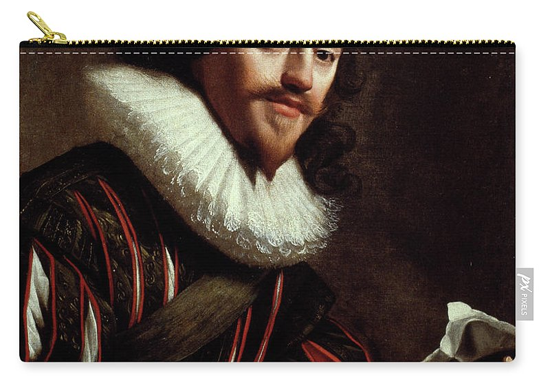 1628 Carry-all Pouch featuring the painting King Charles I Of England (1600-1649) by Granger