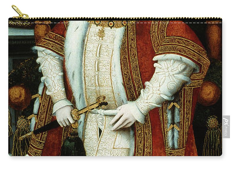 1547 Carry-all Pouch featuring the painting King Edward Vi Of England King by Granger