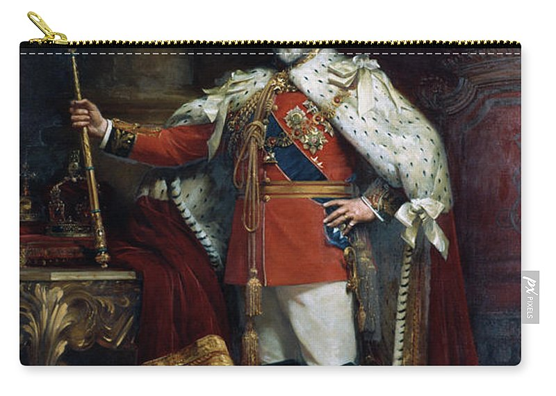 1902 Carry-all Pouch featuring the painting King Edward Vii Of England (1841-1910) by Granger