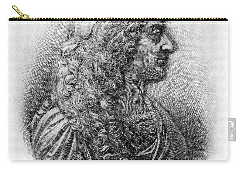 17th Century Carry-all Pouch featuring the painting King James II Of England (1633-1701) by Granger