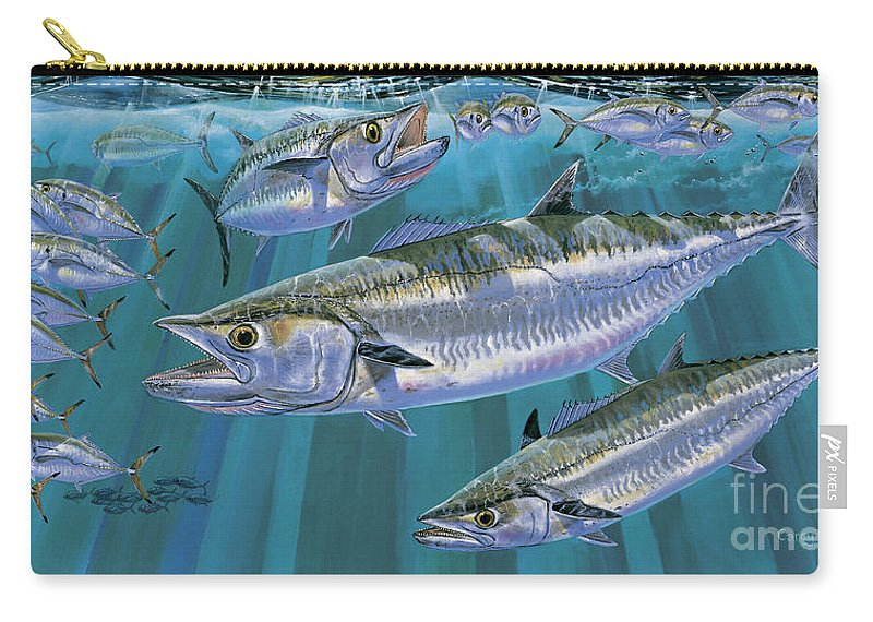 Kingfish Carry-all Pouch featuring the painting King Of Kings Off0090 by Carey Chen