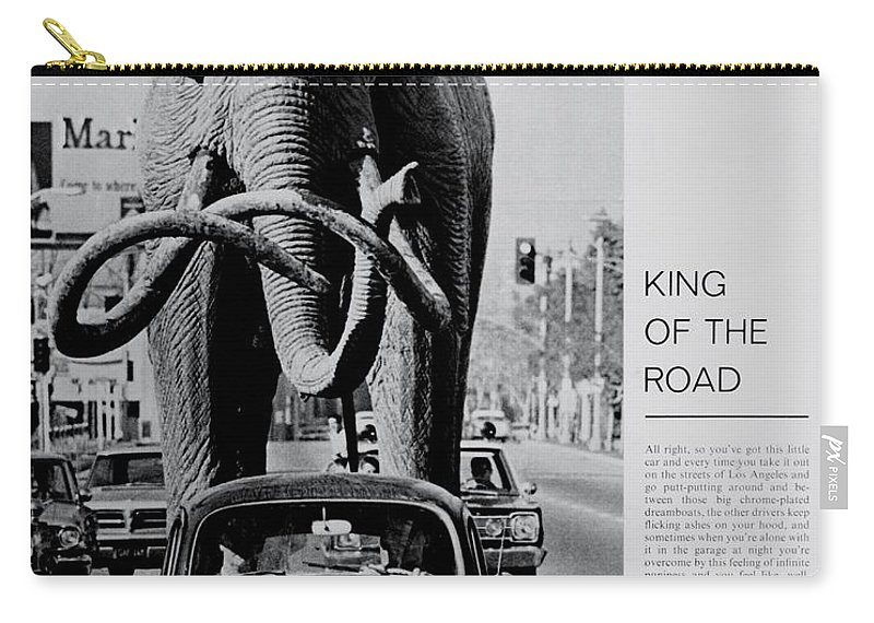 Volkswagen Carry-all Pouch featuring the photograph King Of The Road by Benjamin Yeager