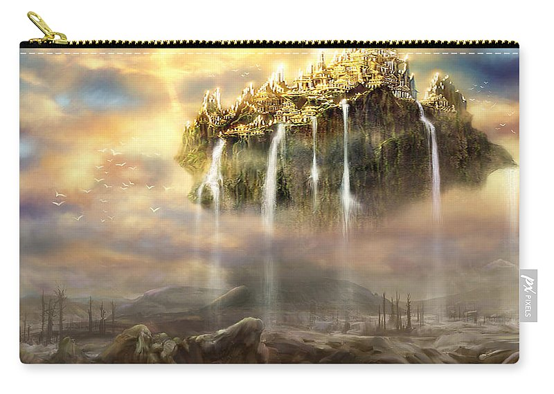 Prophetic Art Carry-all Pouch featuring the digital art Kingdom Come by Tamer and Cindy Elsharouni