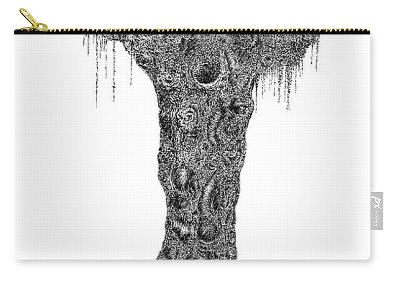 Tree Carry-all Pouch featuring the drawing Kings by Andrea Currie