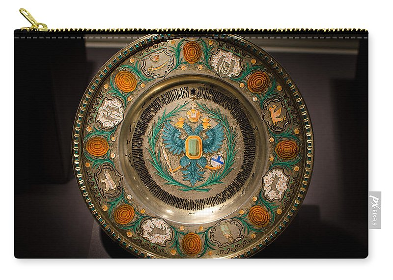 Faberge Carry-all Pouch featuring the photograph King's Plate by David Morefield