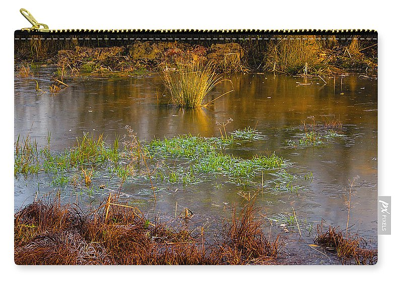 Brown Carry-all Pouch featuring the photograph Kintbury Newt Ponds by Mark Llewellyn