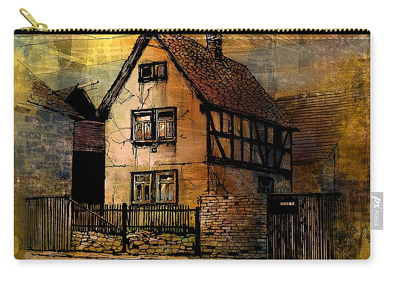 Germany Carry-all Pouch featuring the painting Kirch Gons by Paul Sachtleben