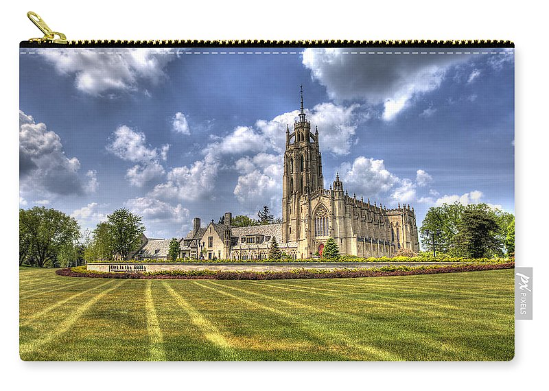 Kirk In The Hills Carry-all Pouch featuring the photograph Kirk In The Hills Bloomfield Hills Mi by A And N Art