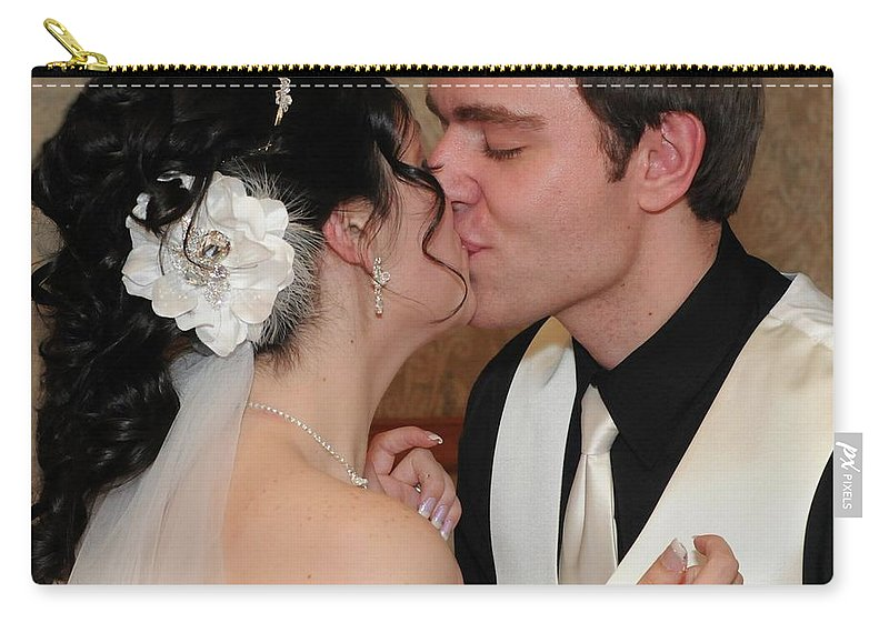 Bride Carry-all Pouch featuring the photograph Kiss by Kathleen Struckle