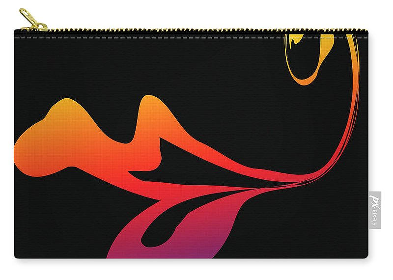 Abstract Carry-all Pouch featuring the drawing Kiss Me You Fool by Steve Herndon